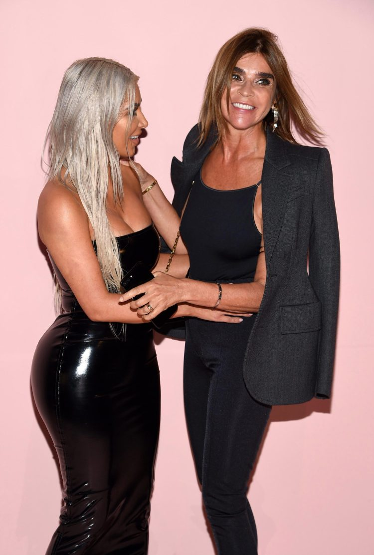 Kim hung out with her friend - fashion guru Carine Roitfeld