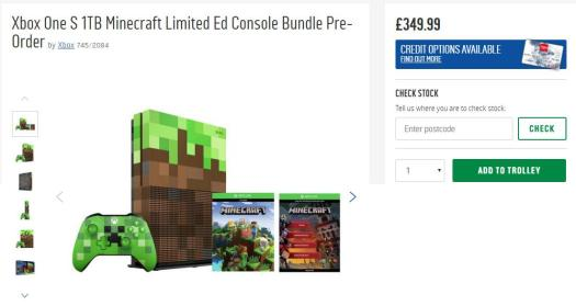 The price of the console has now been increased to £349.99