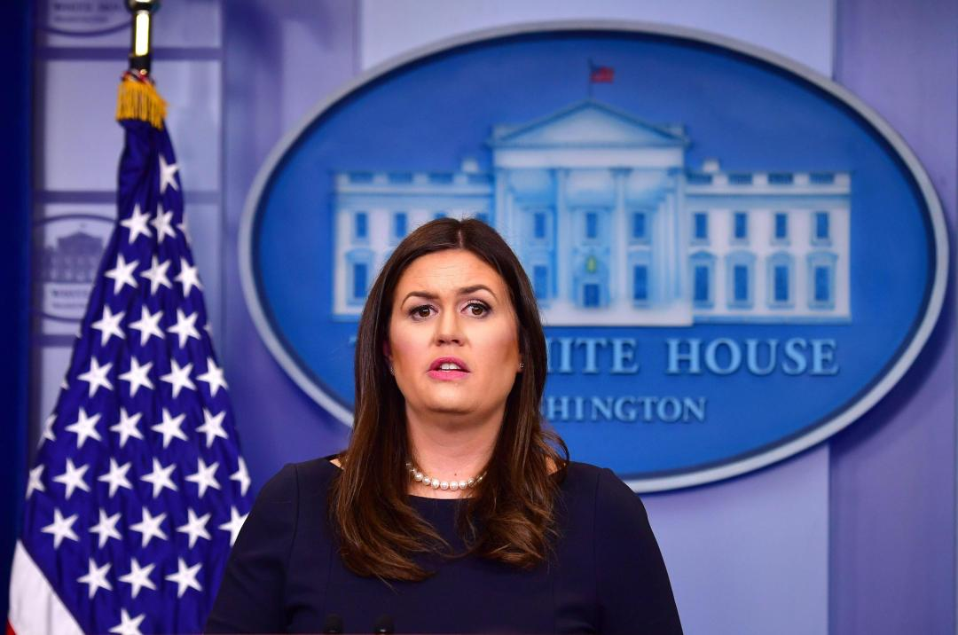 White House spokeswoman Sarah Huckabee Sanders hit back at the claims saying: 'We have not declared war against North Korea'