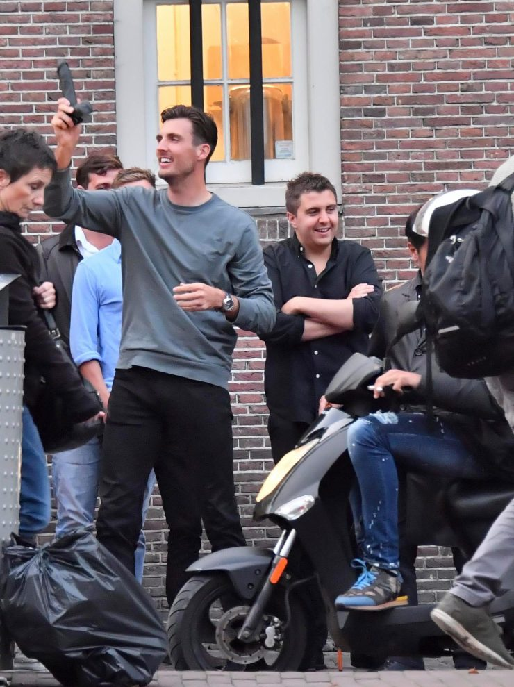 England bowler Steve Finn waves the 8-inch vibrator around in the street while on a boozy stag do in Amsterdam