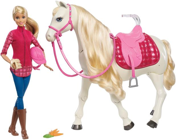 The £90 Barbie DreamHorse reacts to touch and sounds, featuring more than 30 realistic reactions. It was included in Hamley must have toys list this Christmas.