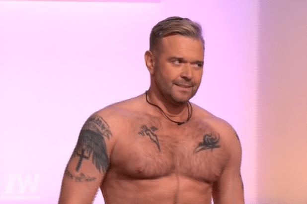 The 49-year-old admitted being nearly naked on TV made him feel 'vulnerable'