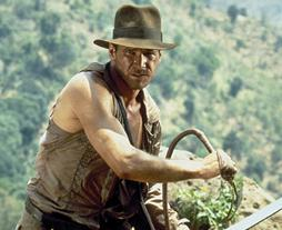 The suspected tomb raider also had a priceless collection of other ancient artefacts. File picture showing Indiana Jones in 1984 film Temple of Doom