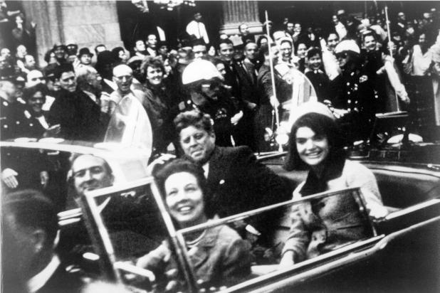 Kennedy moments before his assassination