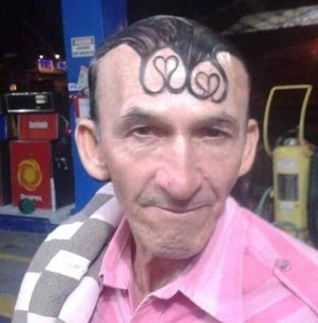 This hopeless romantic decided to gel his locks into heart shapes