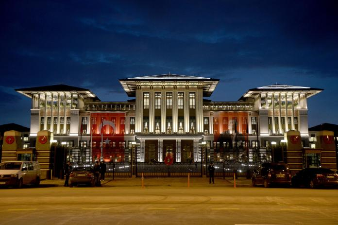 Thousands of others have also been jailed since last year's coup which Erdogan successfully quashed. Pictured is the country's Parliament in Ankara