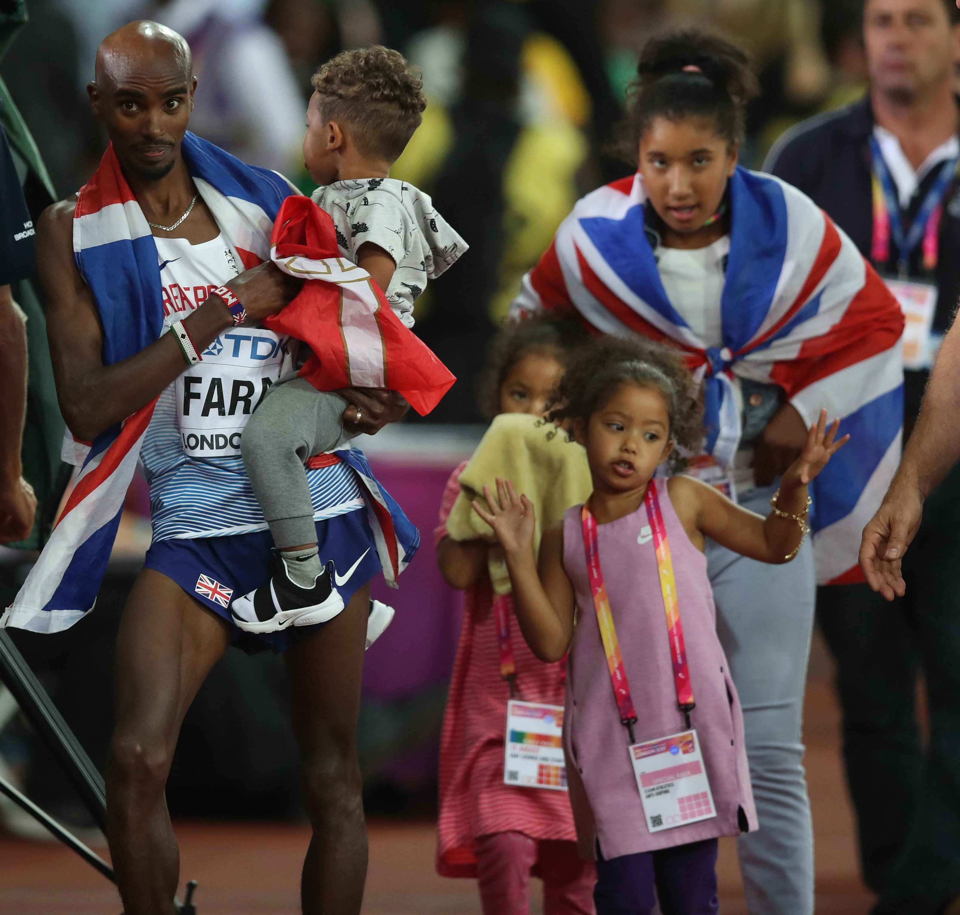Mo Farah believes his family should be in England as opposed to the United States