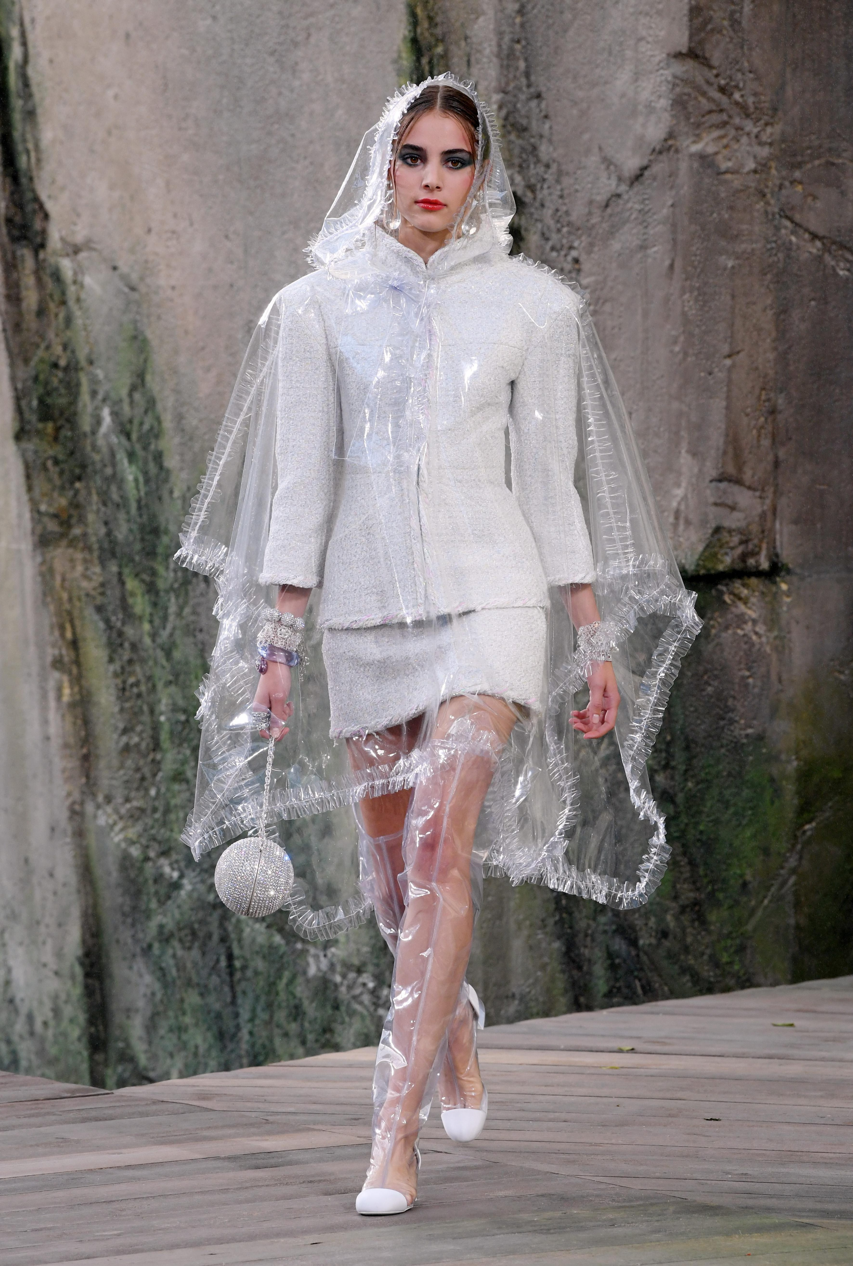Chanel's collection at PFW focused around transparent PVC