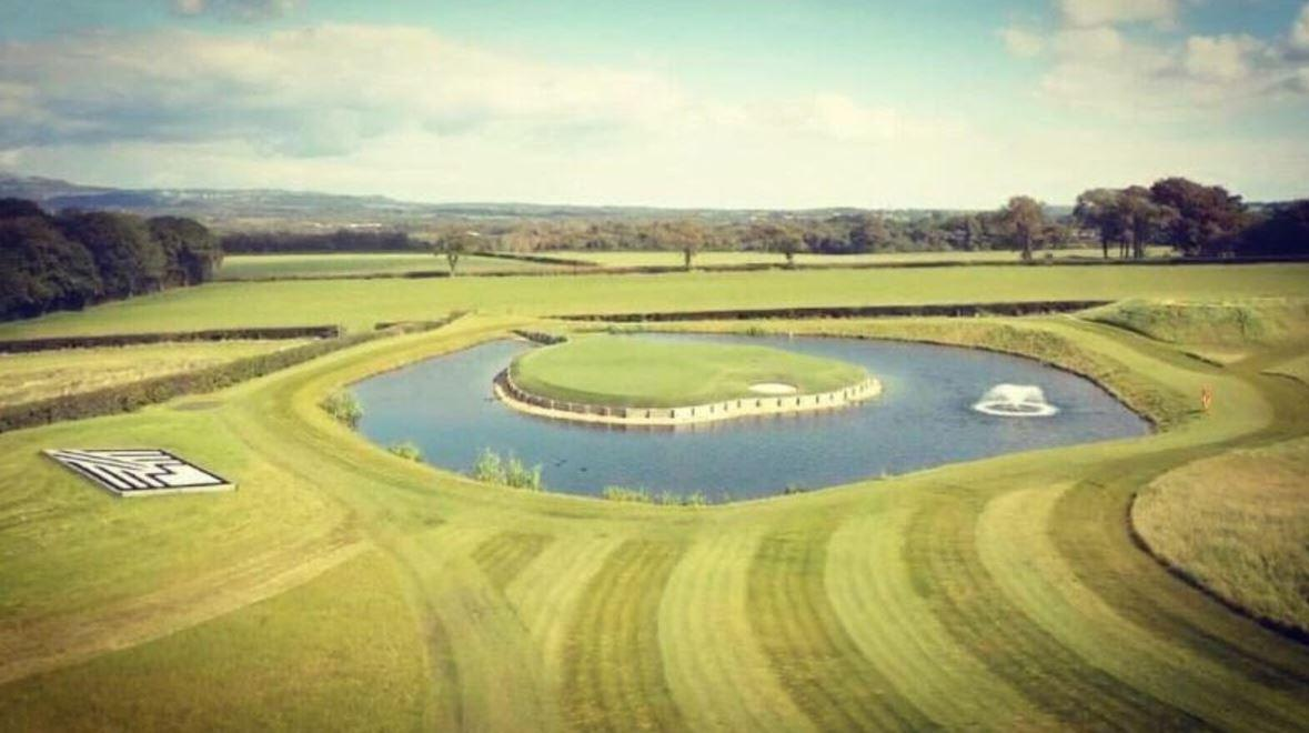 This is how Gareth Bale expects his replica of Sawgrass' 17th hole to look like
