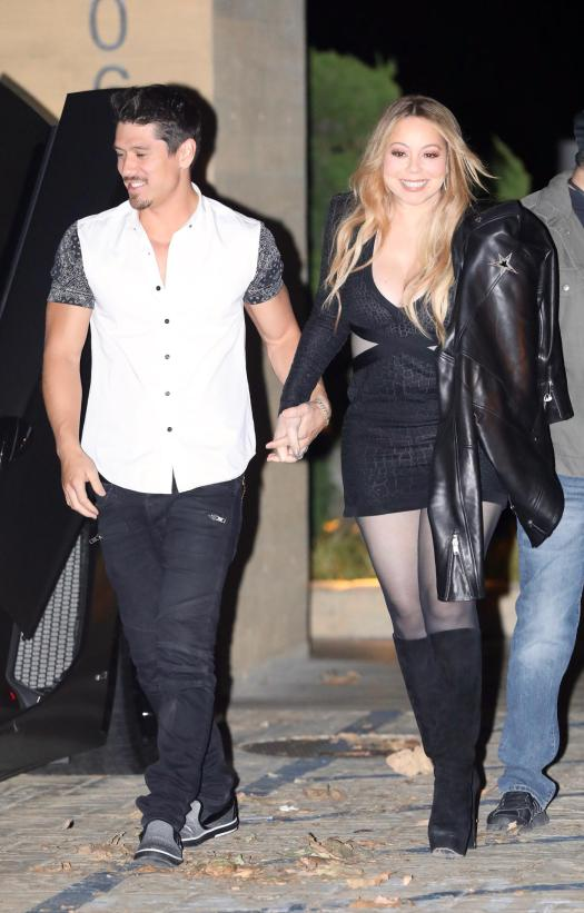 The couple hit the town the night before for another romantic dinner