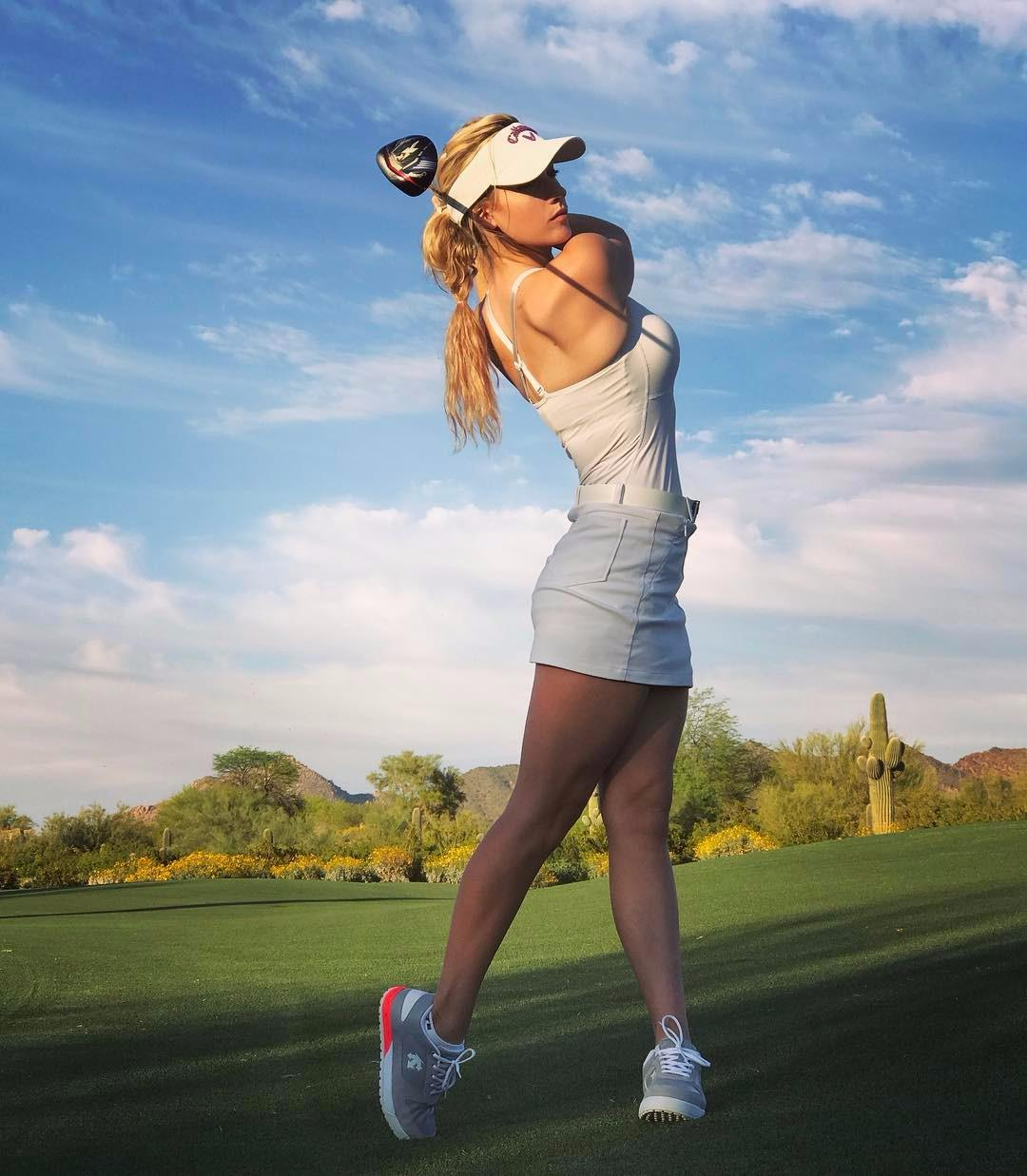The fitness fanatic will be welcoming golfers to the first tee
