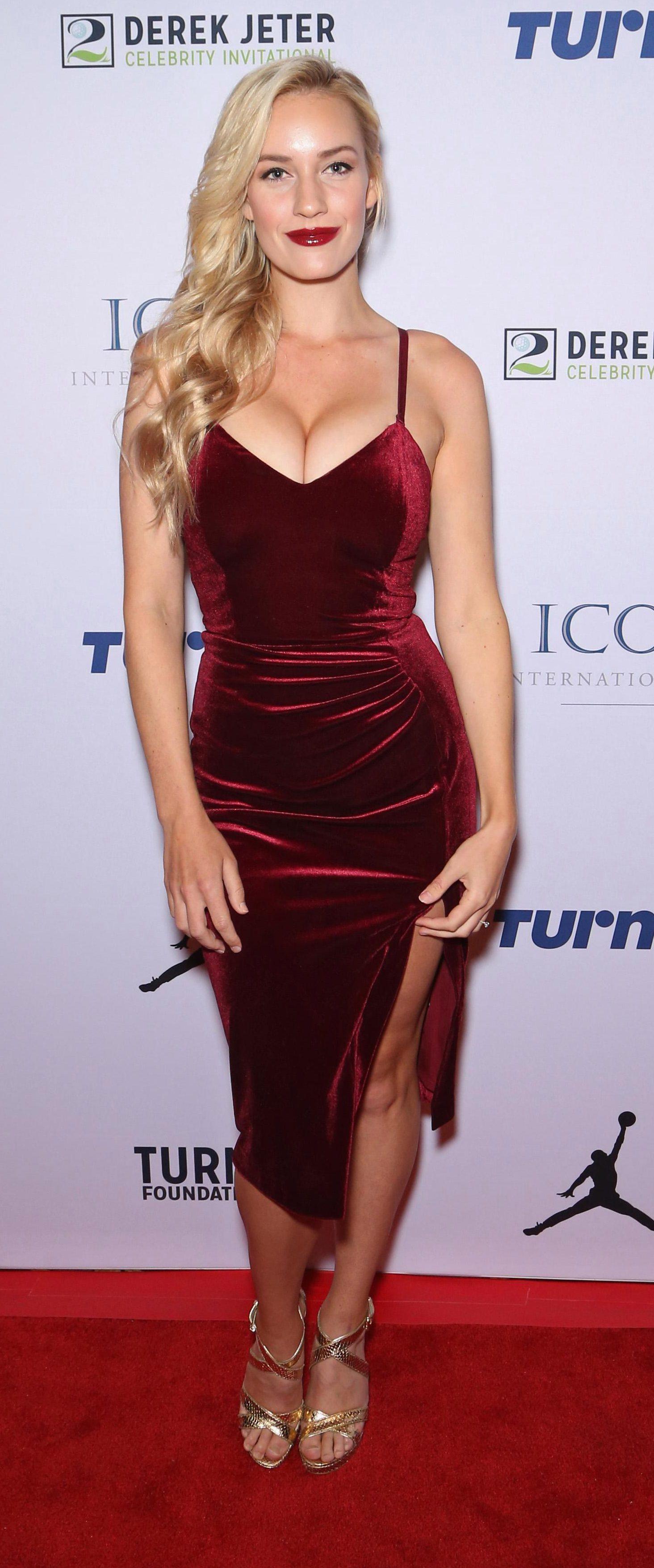 Paige Spiranac attending the 2017 Derek Jeter Celebrity Invitational gala in Las Vegas, Nevada