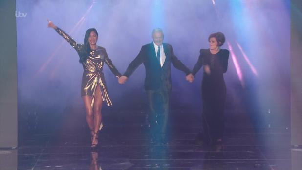 Simon also missed last night's show with the remaining three judges appearing without him