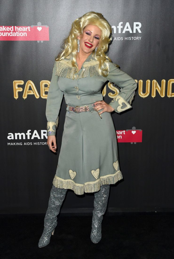 Ellie Goulding looked amazing as Dolly Parton