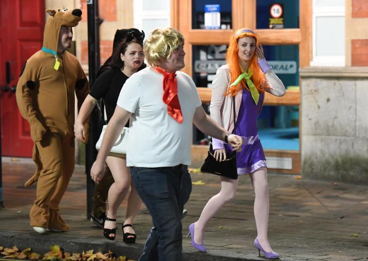 Squad goals - a group of friends decked themselves out in costumes from Scooby Doo