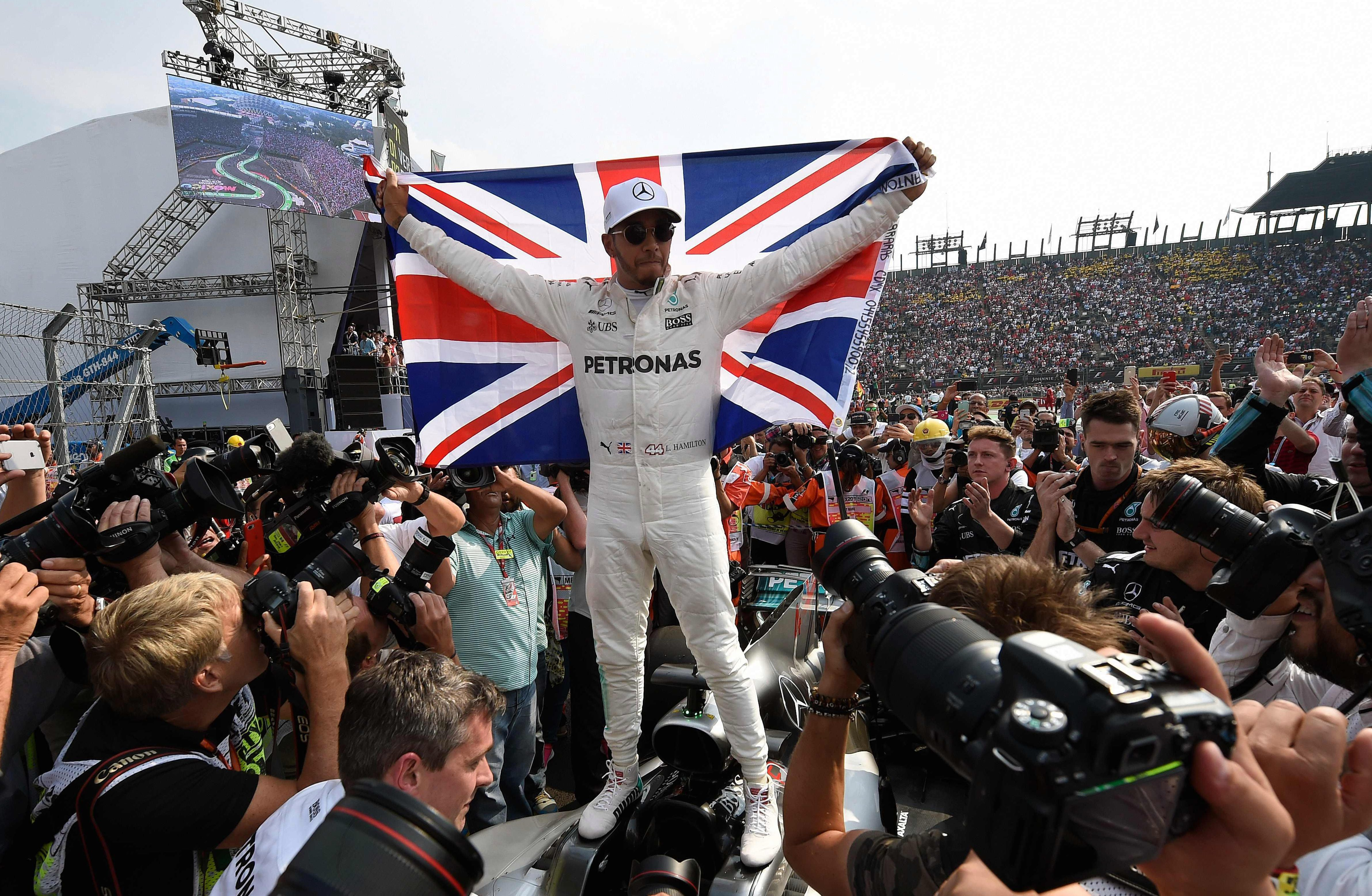 Lewis Hamilton sealed his fourth world title in Mexico with three GPs to spare