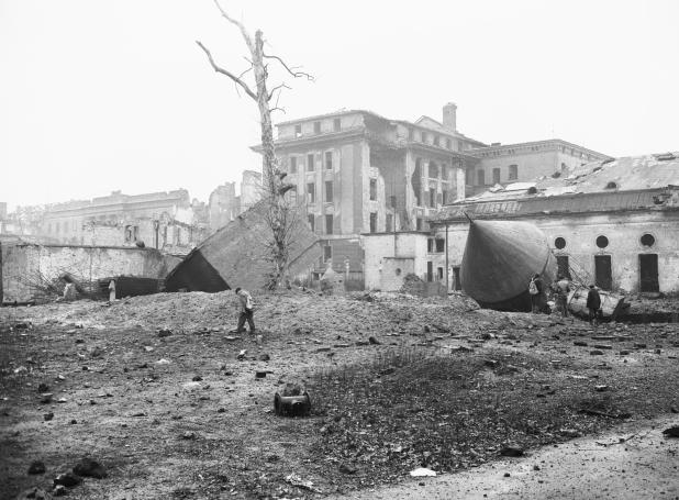 Hitler shot himself and lover Eva Braun in their Berlin bunker, entrance pictured, in April 1945 - with Soviet troops just a few hundred yards away