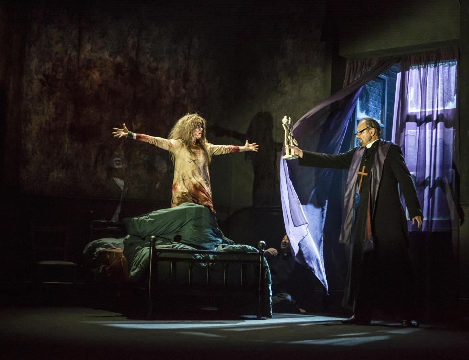 Clare Louise Connolly plays Regan in the stage adaptation of the Exorcist