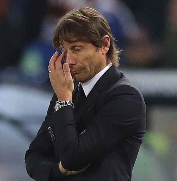 Antonio Conte is feeling the pressure as Chelsea boss