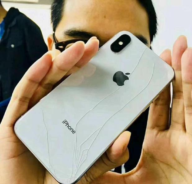 iPhone X buyers are posting snaps of their smashed new gadgets - which went on sale less than 24 hours ago