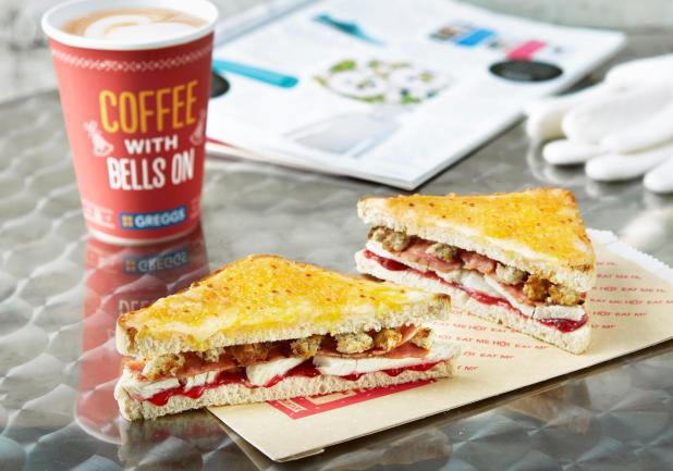 The Greggs Christmas Lunch Toastie