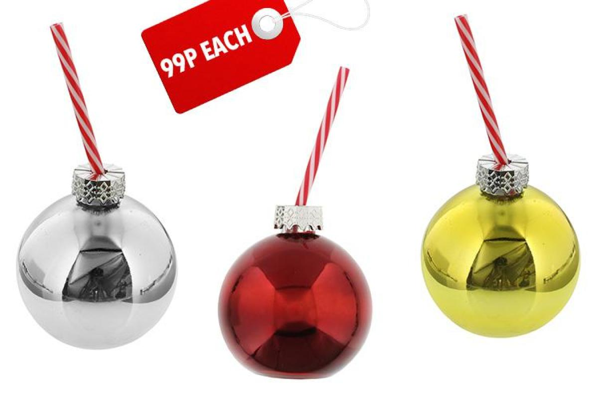 Home Bargains launch a 99p Christmas tree bauble you can fill with BOOZE