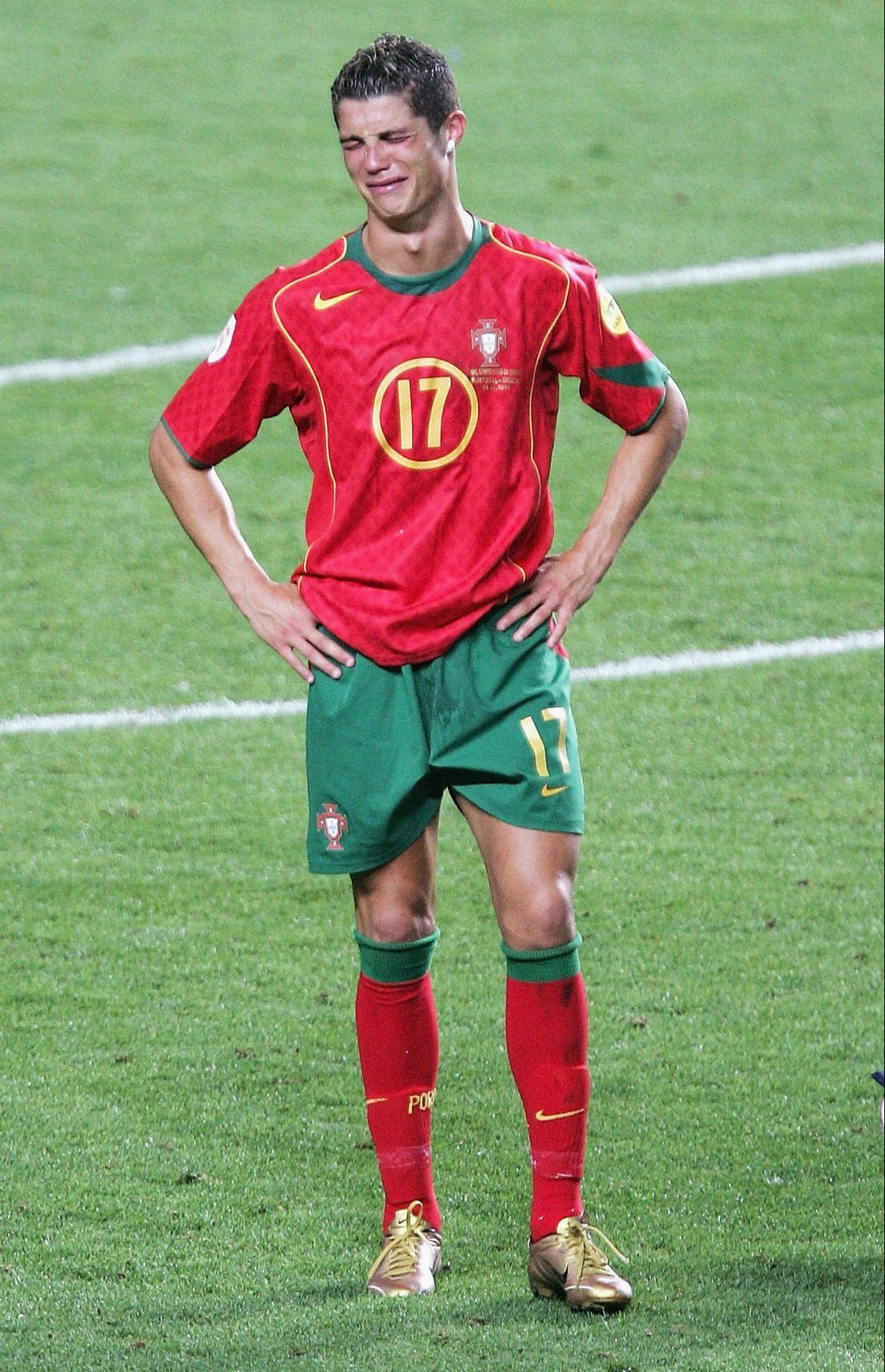 Cristiano Ronaldo shed a few tears after losing the Euro 2004 final