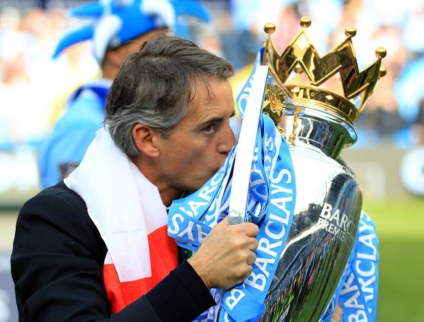 Roberto Mancini won the league title with Manchester City in 2012