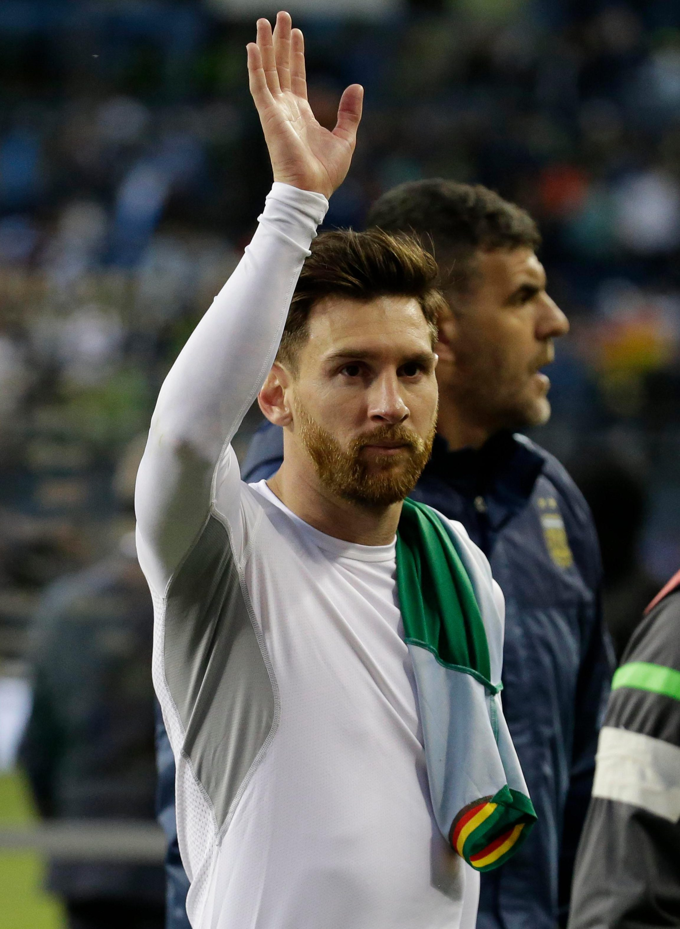 Lionel Messi was left misty-eyed after 'retiring' from international duty