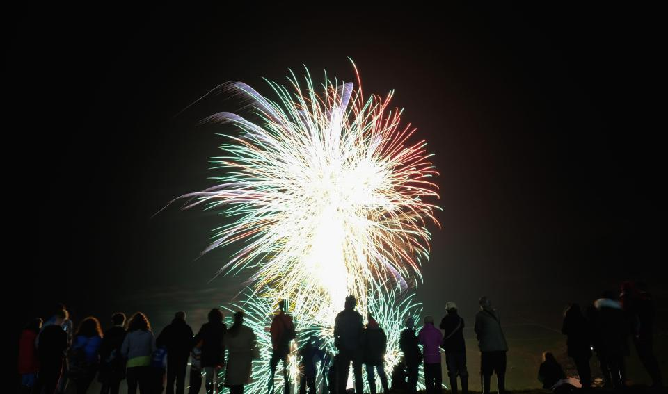It's traditional to celebrate Bonfire Night by lighting bonfires and setting off fireworks