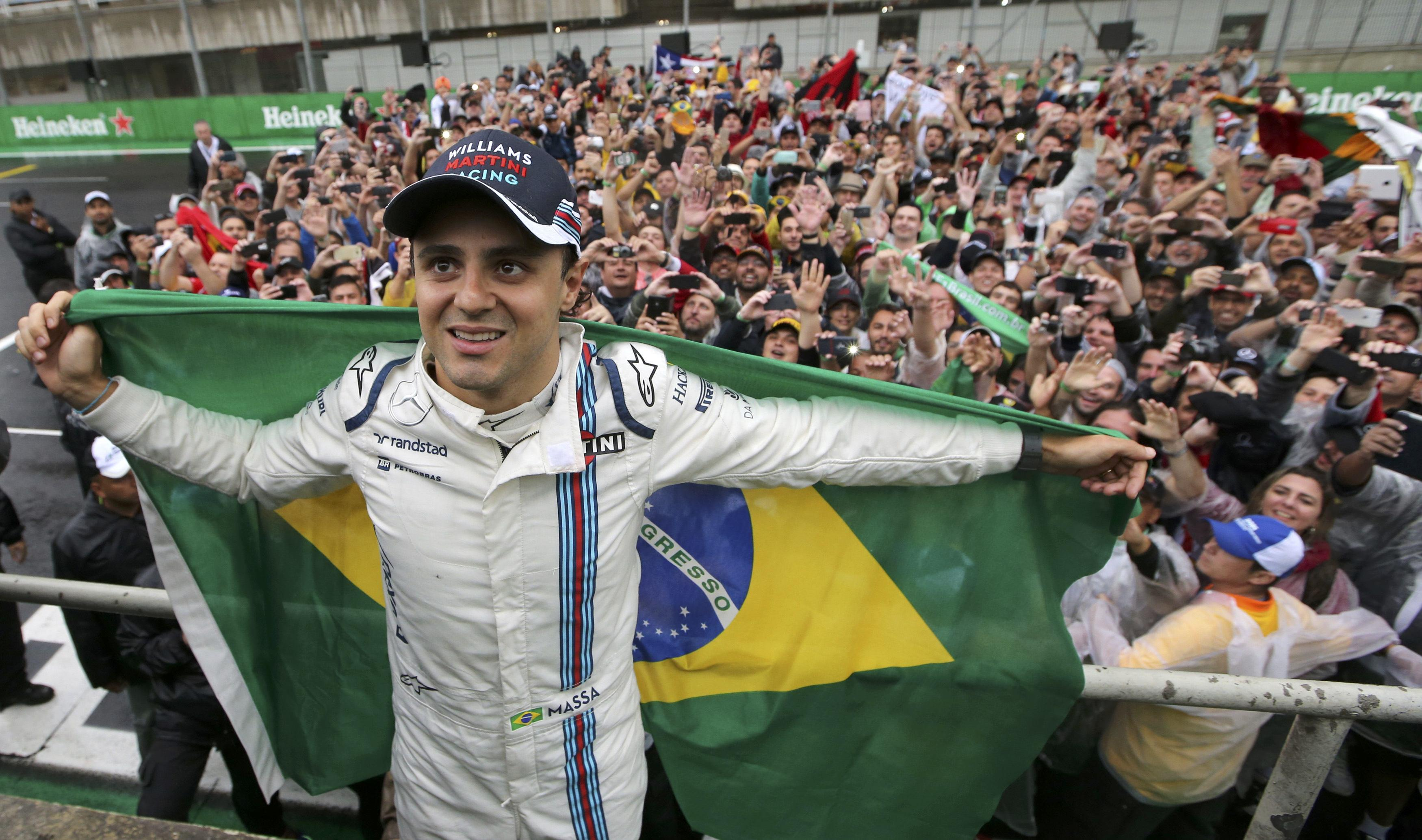 Massa after race on home circuit in Brazil last year