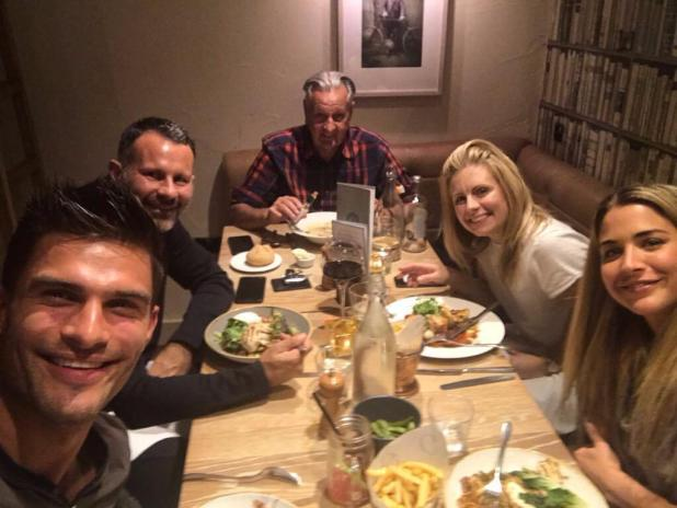 No romance for Ryan and Gemma as they share a meal together with friends