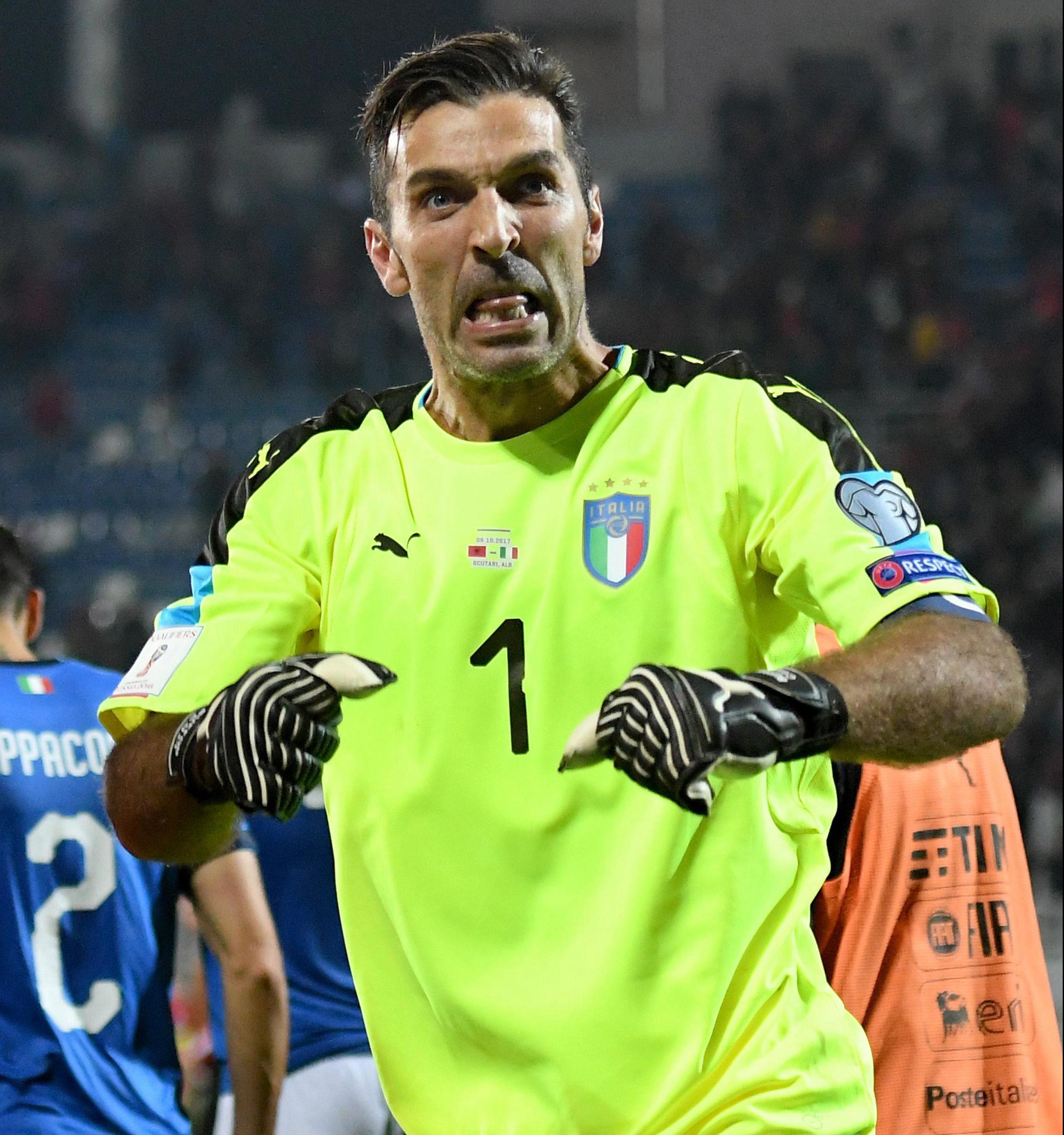 Buffon has racked up a mega 173 caps for the Azzurri