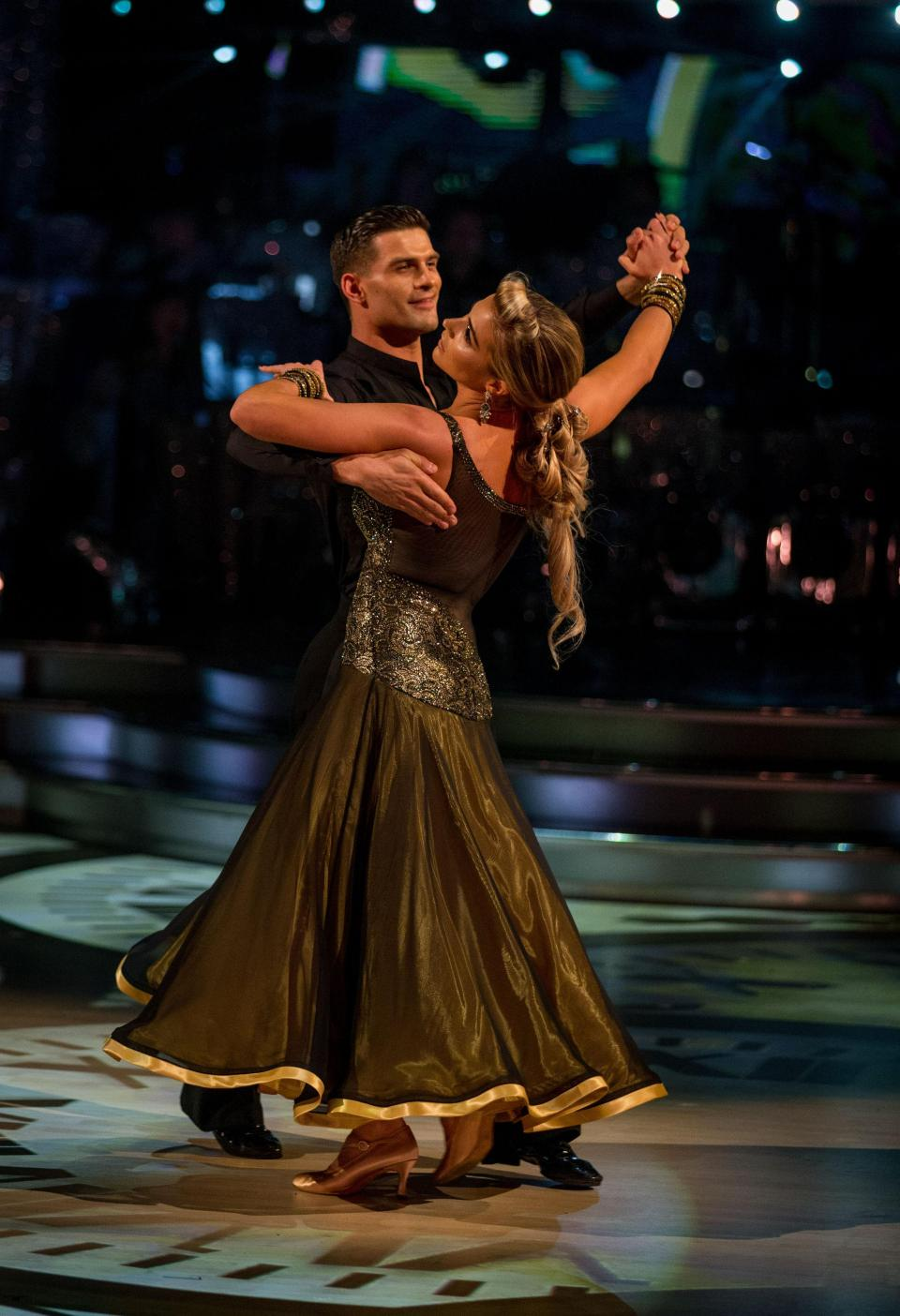 Gemma is paired with Aljaz Skorjanec on the show