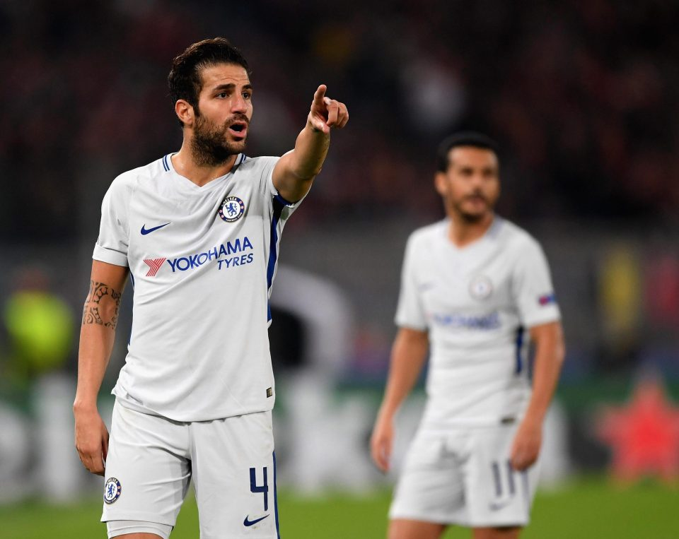 Cesc Fabregas, pictured during Chelsea's 3-0 thrashing at Roma, has admitted the squad are struggling with Champions League football