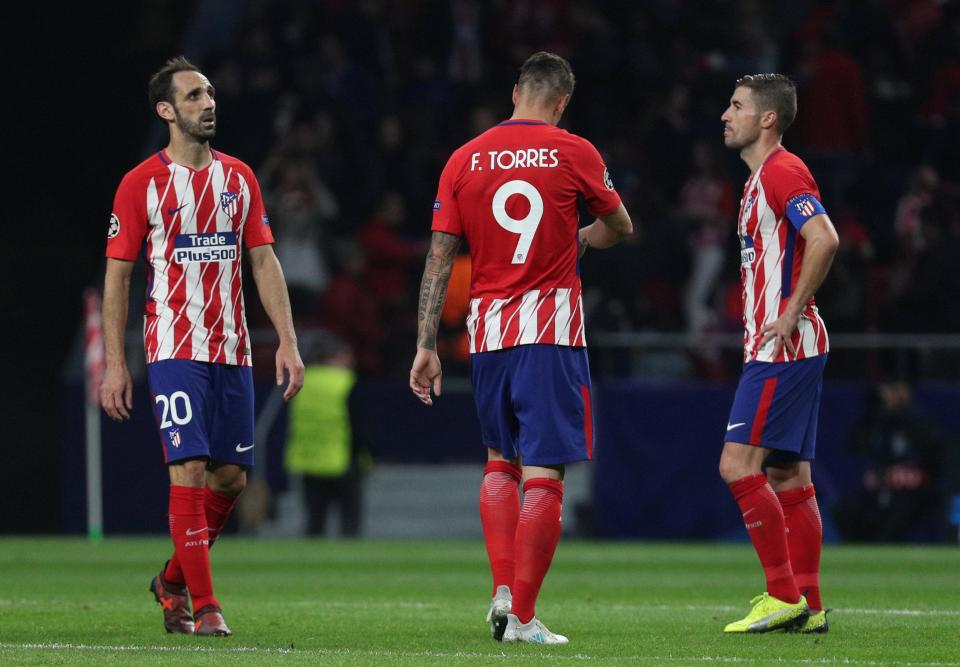 Atletico Madrid are on the verge of entering the Europa League