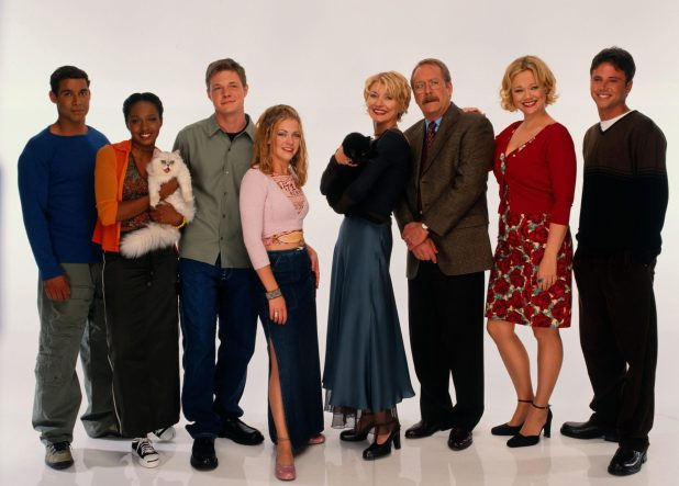 Sabrina The Teenage Witch featuring Nate (third from left), Melissa Joan, Beth, Martin, Caroline and David Lascher) back in 1999