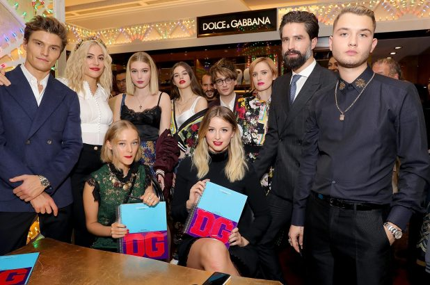 The D&G Christmas presentation was held at Harrods and celebrated Britain's bright young things