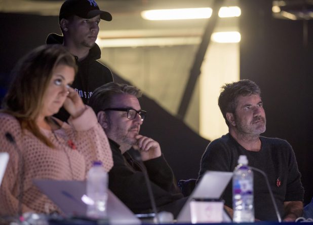 Simon was back where he belonged on the judging panel