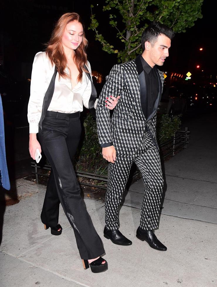 The couple went monochrome for their big party