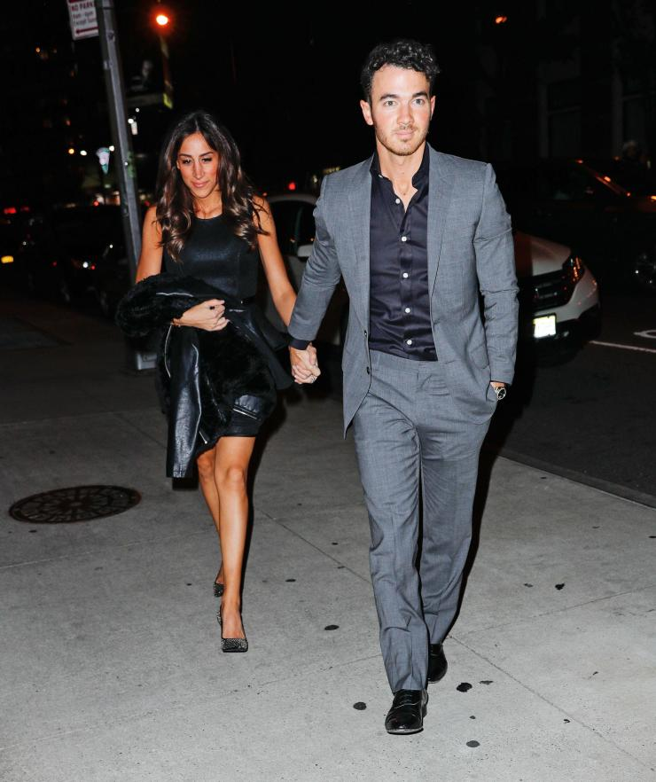 Kevin Jonas also made an appearance with wife Danielle