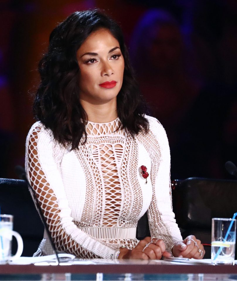 A show spokesperson said Nicole's poppy had fallen off during her entrance