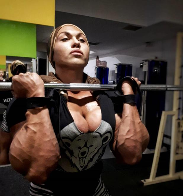 She also set three world records for bench press and three for deadlift