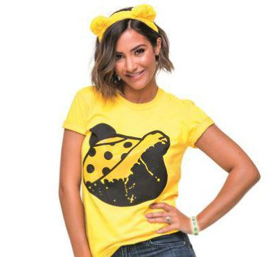 Merch up for grabs includes everything from Pudsey ear headbands to T-shirts for both men and women