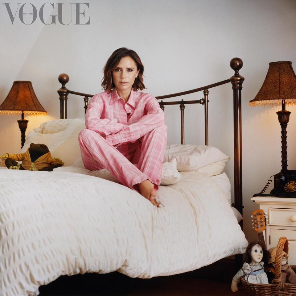 Victoria Beckham failed to muster up a smile for her latest appearance in British Vogue