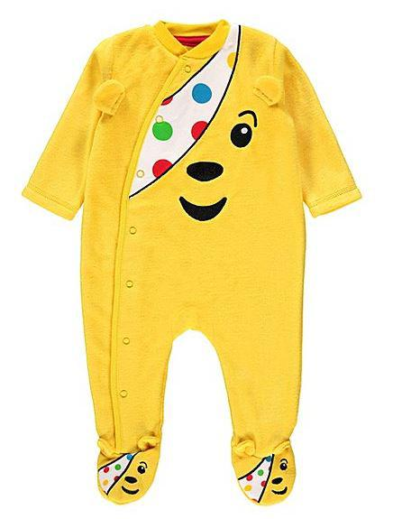 There are even Pudsey themed baby-grows at Asda