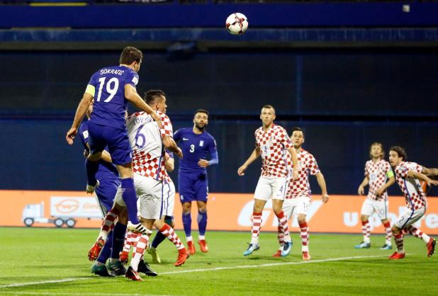 Greek defender Sokratis Papastathopoulos scored to make it 2-1 with an expert header