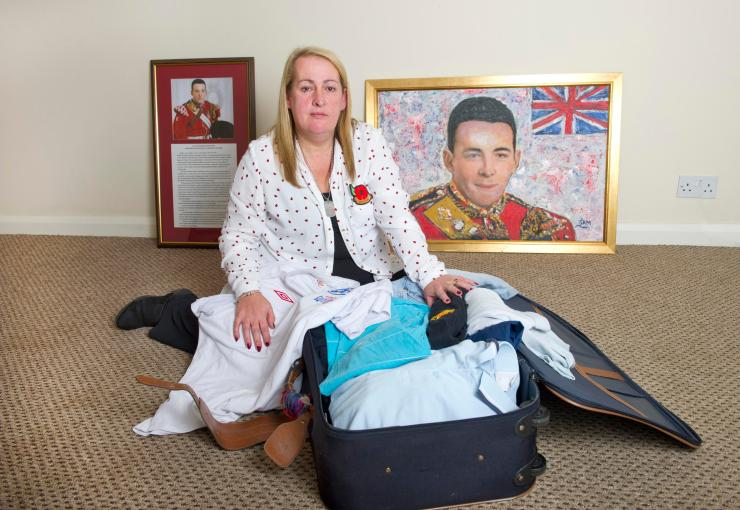 Lee Rigby's mum Lyn has been reunited with Lee's possessions