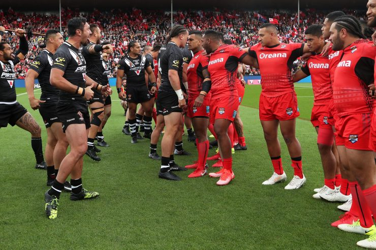 Tonga went on to beat New Zealand 28-22 to set up a World Cup quarter-final with Lebanon