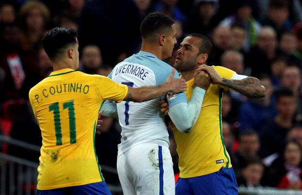 nintchdbpict000366929335 - England 0 Brazil 0: Three Lions held to another goalless draw as Gareth Southgate's men struggle against Samba stars